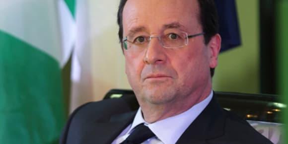 François Hollande au Nigeria, le 27 février 2014.