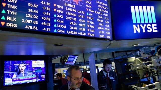 Wall Street s'est retournée à la baisse lundi, sur fond de cours du pétrole qui tombent sur des plus bas d'un mois.