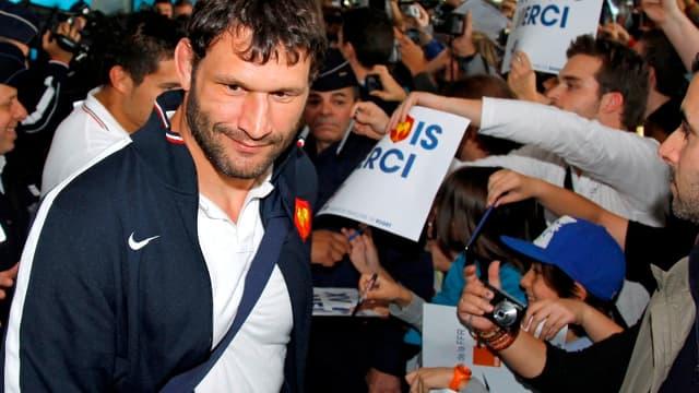 Lionel Nallet ne devrait plus connaitre les bains de foule avec les supporteurs de l'équipe de France