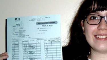 Emilie Laurent, première élève de France avec les meilleurs résultats au baccalauréat