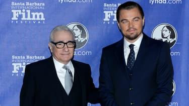 Martin Scorsese et Leonardo DiCaprio aux Cinema Vanguard Awards à Santa Barbara, en 2014