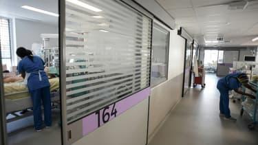 Le service de réanimation à l'hôpital Henri Mondor à Créteil, près de Paris, le 22 juillet 2021