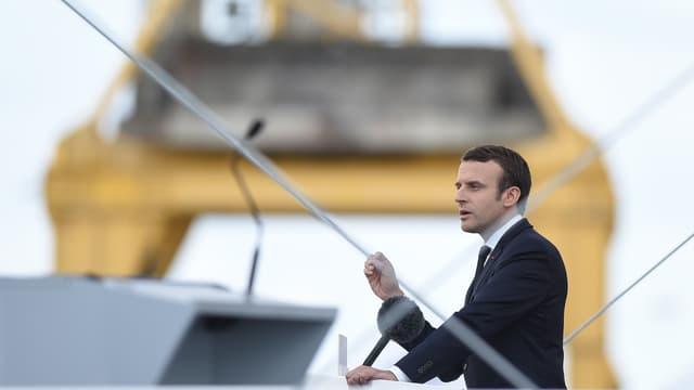 Emmanuel Macron s'est rendu ce mercredi sur les chantiers STX de Saint-Nazaire