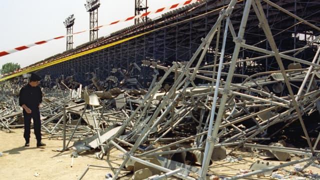 Le stade de Furiani après le drame.