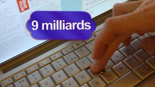 9 milliards d'eurossont dépensés sur internet pour les achats de fin d'année, soit 18% de plus que l'année passée (source Fevad)