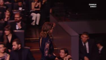 Adèle Haenel quittant la cérémonie des César
