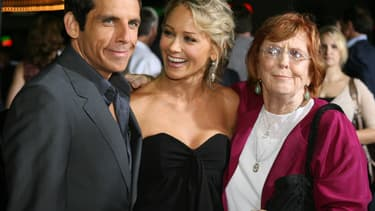 Ben Stiller, sa femme et sa mère Anne Meara