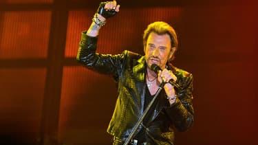Johnny Hallyday en concert à Bordeaux en juin 2013