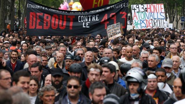 Une manifestation contre la loi Travail à Paris, le 17 mai 2016