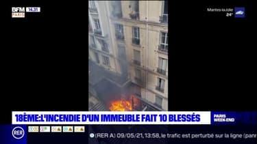 Un incendie s'est déclaré ce dimanche matin dans le 18e arrondissement de Paris, 10 personnes ont été légèrement intoxiquées par les fumées