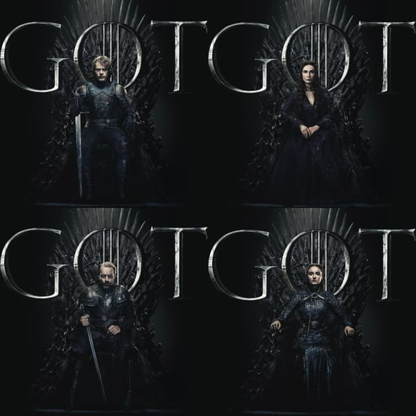 Affiches personnages de la dernière saison de Game of Thrones