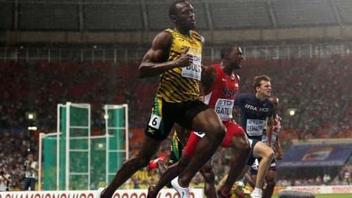 Usain Bolt remporte le 100 m à Moscou le 11 août 2013.