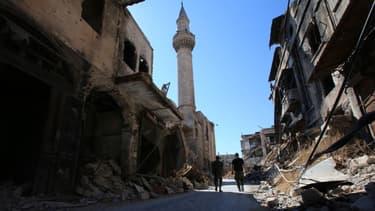Le souk d'Alep a été complètement détruit par les bombardements.