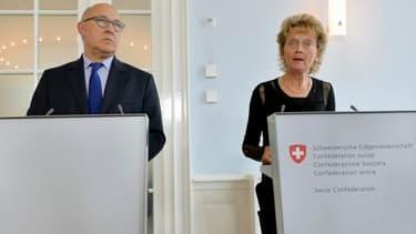 Eveline Widmer - Schlumpf et Michel Sapin ce mercredi 25 juin.