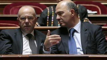 Pierre Moscovici et Bernard Cazeneuve.