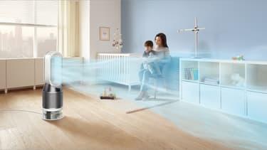 Humidificateur d'air Dyson dans une chambre d'enfant