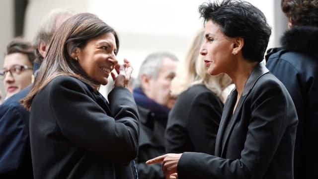 Anne Hidalgo et Rachida Dati, ici en 2016
