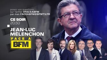 """Jean-Luc Mélenchon est """"Face à BFM"""" sur BFMTV"""
