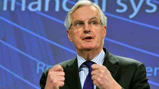 Michel Barnier, en conférence  de presse, ce mercredi 29 janvier.