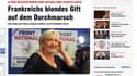 """Marine Le Pen est un """"poison blond"""" selon le journal allemand Bild."""