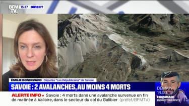 """Émilie Bonnivard (députée de Savoie) sur les avalanches: """"On maîtrise de moins en moins le manteau neigeux en raison des variations de température"""""""