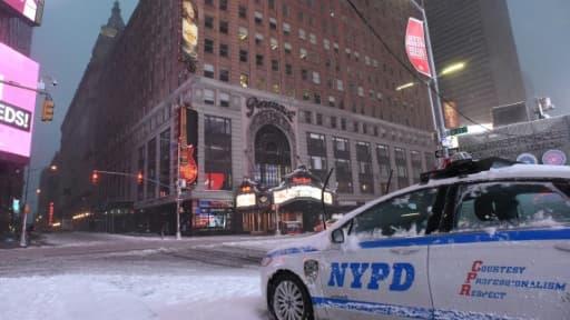 Voiture de police à New York, le 14 mars 2017