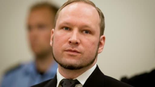 Anders Behring Breivik lors de son procès à Oslo, le 24 août 2012