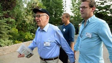Rupert Murdoch avec son fils James