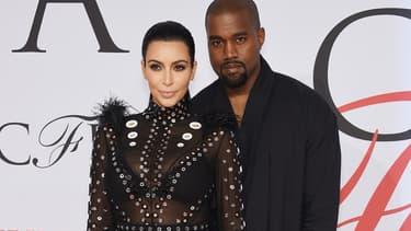 Kim Kardashian et Kanye West à New York en décembre 2015