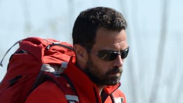 """Jérôme Kerviel, ici le 19 mars dernier à Modène, en Italie, s'était déclaré samedi matin """"heureux"""" de retrouver son pays."""