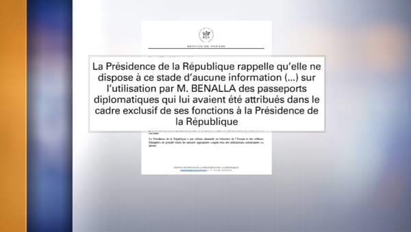 Le communiqué diffusé ce vendredi par l'Elysée.