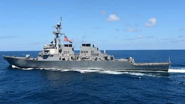 L'USS Fitzgerald, le destroyer de l'armée américaine déployée au large de la Corée du Sud.