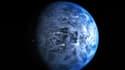 La couleur bleu azur de la planète ne vient pas de la réflexion d'un océan tropical, mais de l'atmosphère chargée de particules de silicate.