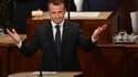 Emmanuel Macron face aux élus du Congrès