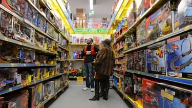 Un magasin de jouets à Tours, en 2012.
