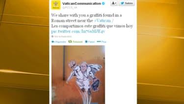 Le tweet du Vatican a été retwitté des centaines de fois.