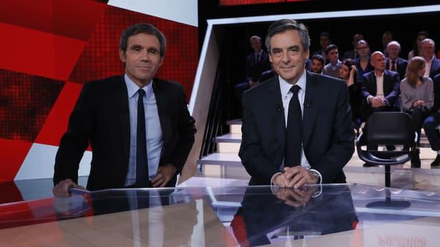 """François Fillon dans """"L'émission politique"""" de David Pujadas sur France 2, le 23 mars 2017"""
