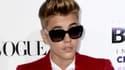 """Justin Bieber lors de la première du film """"Justin Bieber's Believe"""", le 18 décembre 2013, à Los Angeles."""