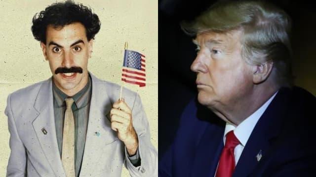 Sacha Baron Cohen dans le rôle de Borat - Donald Trump