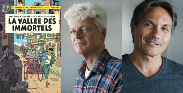 Les nouveaux dessinateurs de Blake et Mortimer: Teun Berserik et Peter Van Dongen.