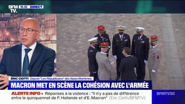 """Éric Ciotti: """"Avec Emmanuel Macron tout est de la communication, c'est le mal de ce quinquennat"""""""