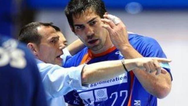 Patrice Canayer et Nikola Karabatic