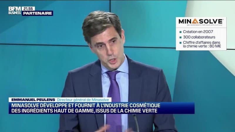 Emmanuel Peulens (Minasolve) : Minasolve développe et fournit à l'industrie cosmétique des ingrédients de haut de gamme issus de la chimie verte - 20/02