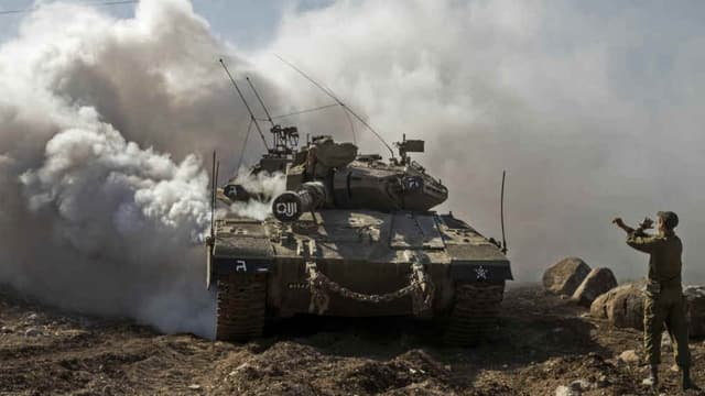 Un Merkava, tank de Tsahal, l'armée israélienne -