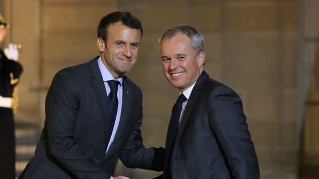 Emmanuel Macron et François de Rugy