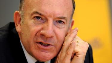 """Pierre Gattaz, ici le 14 avril, a réagi sur son blog aux informations du """"Canard""""."""