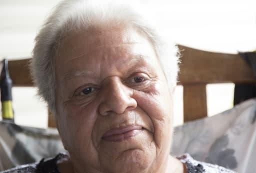 Maryline Naquin, une habitante de  l'Isle de Jean Charles en Louisiane, le 16 août 2015