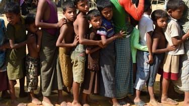 Le 22 septembre 2017, dans un camp de réfugiés au Bangladesh.