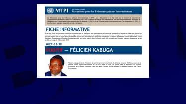 Félicien Kabuga, arrêté à Paris.