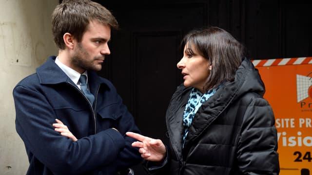 Anne Hidalgo et Bruno Julliard, le 12 avril 2013 à Paris.